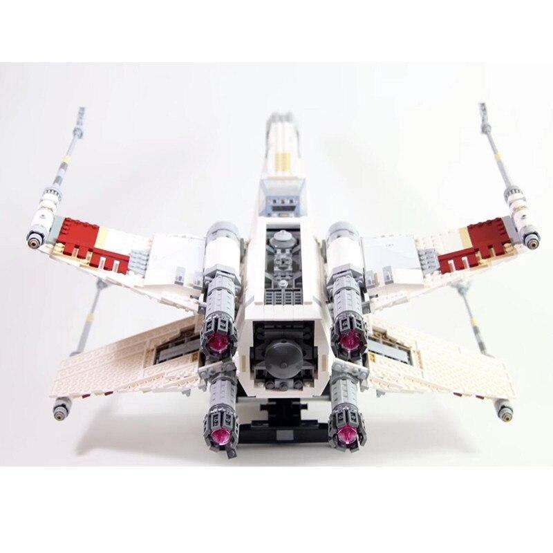 Oyuncaklar ve Hobi Ürünleri'ten Bloklar'de Kral Tuğla Lepinblocks 05039 Kırmızı Beş X Kanat Yıldız Fighter Millennium Star Wars Gemi Falcon Yapı Taşları Set 10240 Oyuncaklar hediye'da  Grup 2
