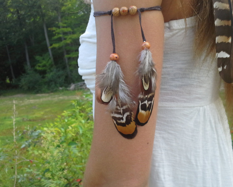US $1.99 28% OFF|Ethnic Gypsy Tribal Adjustable Leather Arm Bracelets for Women Bohemian Punk Feather Armlet Party Fashion Accessories Bijoux-in Chain & Link Bracelets from Jewelry & Accessories on AliExpress - 11.11_Double 11_Singles