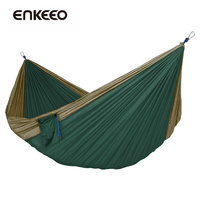 Enkeeo Portable Parachute Hammock Travel Kits Picnic Hiking Camping Garden Flyknit Hunting Leisure Sleeping Bed Green