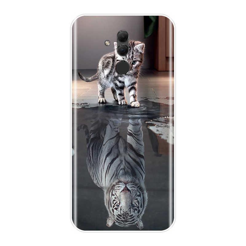 사랑스러운 동물 뒷 커버 화웨이 메이트 7 8 9 10 20 30 라이트 소프트 tpu 실리콘 전화 케이스 화웨이 메이트 9 10 20 30 프로 케이스