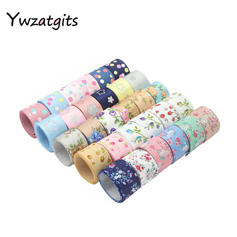 Ywzatgits 6 ярдов разные варианты Grosgrain/сатин/ленты из органзы DIY Hairbow лента швейные принадлежности 040054070