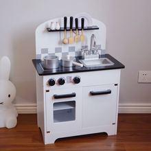 Детский игровой домик кухонные игрушки деревянная печь