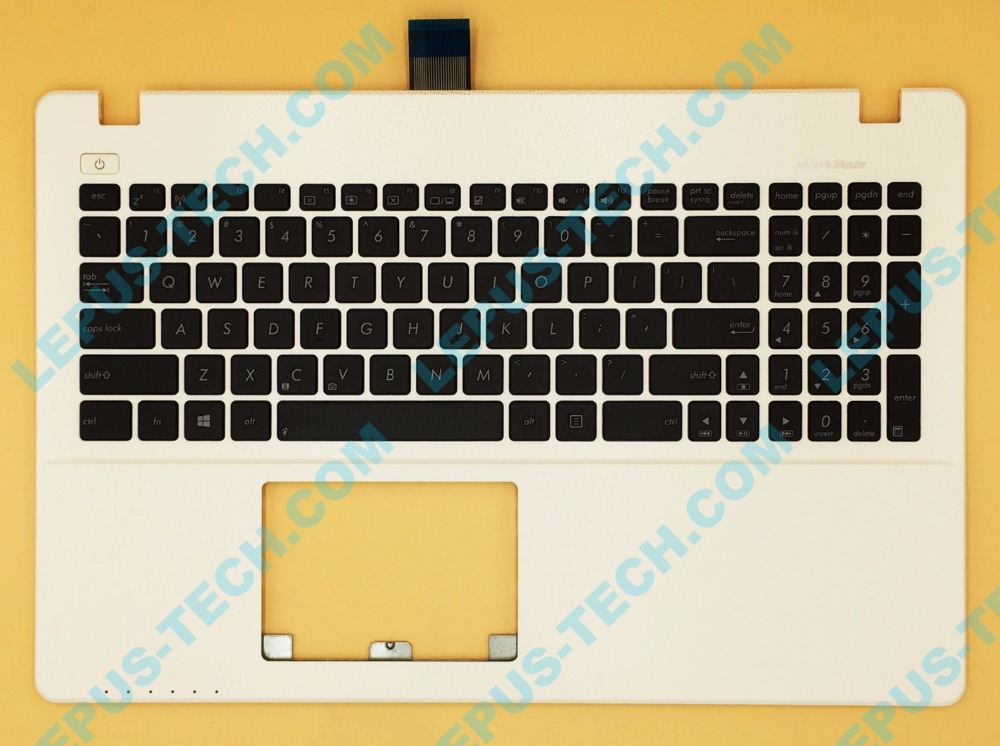 US UK English Keyboard For ASUS X550 K550 Y582 X552E A550L Y581C F550 R510JK Top Cover Upper Case Palmrest 90NB00T3-R31US0 White цена и фото