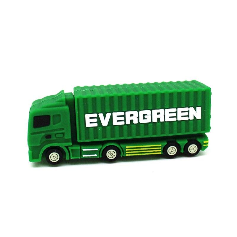 Cute Mini Cartoon Cargo Truck/Container Car USB Flash Drive 128MB 4GB Pen Drive 8GB 16GB 32GB 64GB Memory Stick U Disk Pendrive
