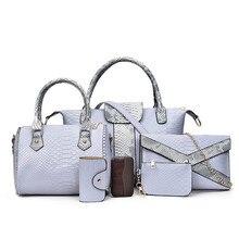 Nueva hombro de las mujeres ocasionales bolsas de Mensajero famosa marca Bolso de las mujeres totes bolso del diseñador de moda Sólido Compuesto Imagen 6 sets