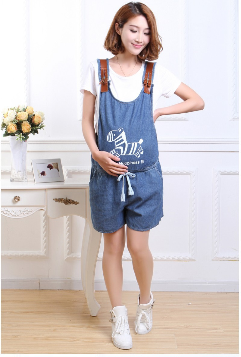 c40c4f1352d Blue Denim Jumpsuit For Pregnant Women Maternity High Waist Denim ...