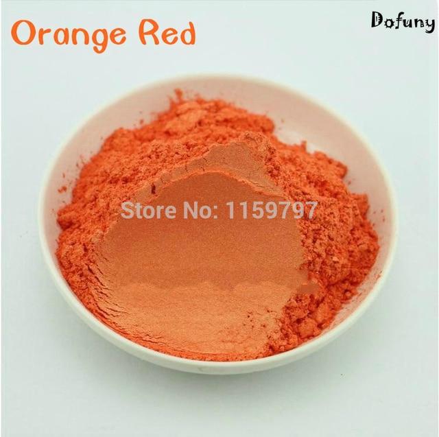 Naranja color rojo mica pigmento de efecto, esmalte de uñas pigmento ...