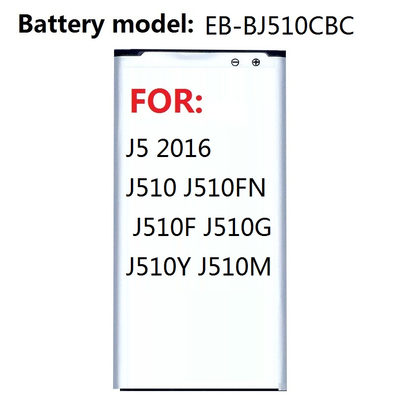 <font><b>Battery</b></font> for <font><b>Samsung</b></font> Galaxy J5 2016 Edition Replacement <font><b>J510</b></font> J510FN J510F J510G J510Y J510M 3100mAh EB-BJ510CBC image