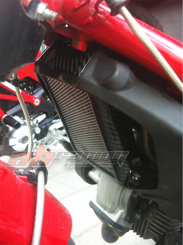 Cubierta del radiador Para Ducati Monster 696 795 796 de Fibra de ...