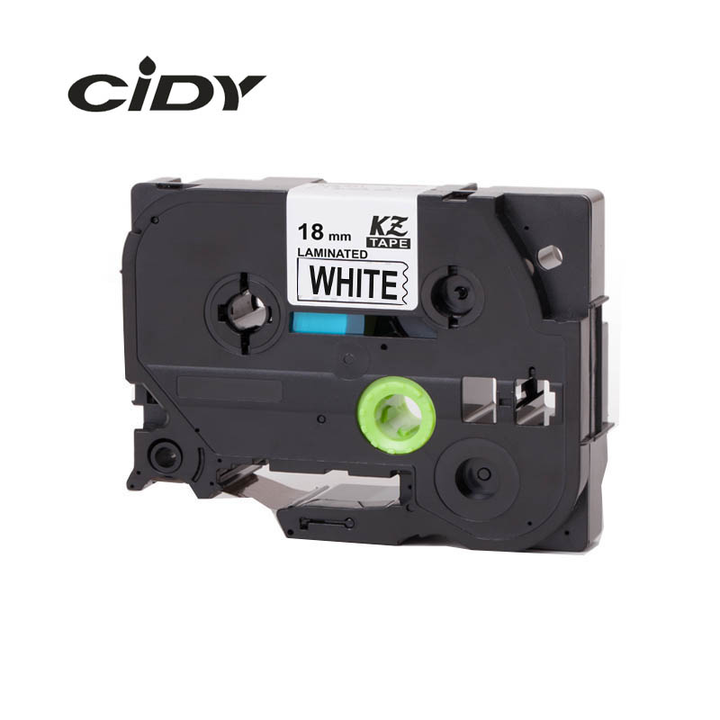 CIDY TZ241 TZ 241 TZe241 TZe 241 Laminated Adhesive tz-241 tze-241 Labels Tape P Touch black on white Compatible For Brother cidy 5pcs compatible p touch laminated tze 251 tz251 tze251 tape 24mm black on white tape tze 251 tz 251 for brother printers