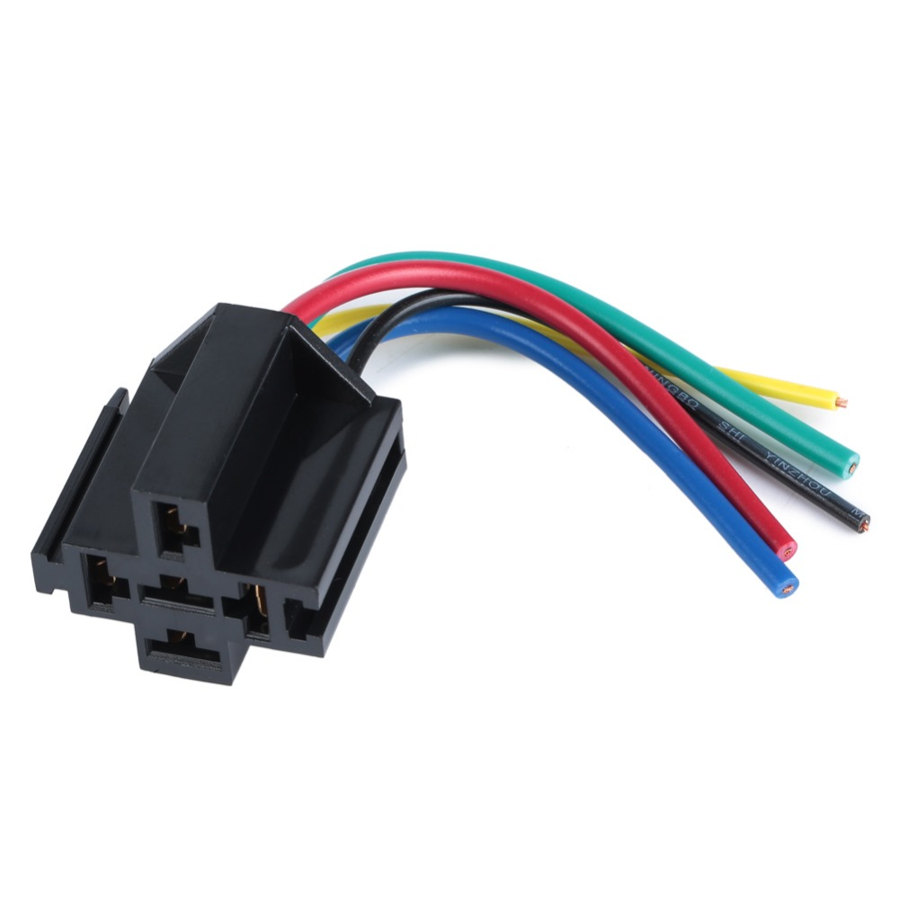 small resolution of 5 pcs car relay socket 12v 30a 40a 5 prong 5 wire relay harness 5 pin relay harness