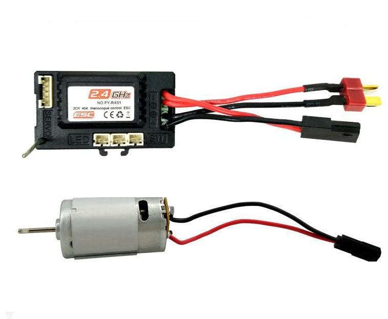 390 brushed motor FY-M390 / FY-RX01 receiver ESC speed controller set for Eagle FY-01/FY-02/FY-03 1/12 RC Car кейс для диджейского оборудования thon case for xdj rx notebook