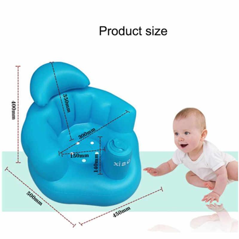 เด็กทารก Inflatable เก้าอี้เด็กโซฟาเป่าลม Bath ที่นั่งรับประทานอาหารรถเข็นเด็กเล่นเกมเรียนรู้สตูล Multifunctional
