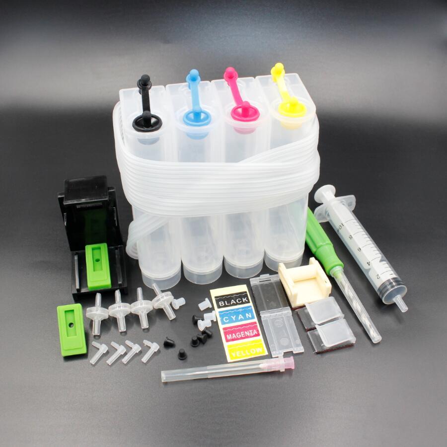 4C universal CISS para Canon, CISS DIY para HP con el taladro y herramienta de succión y todos los accesorios