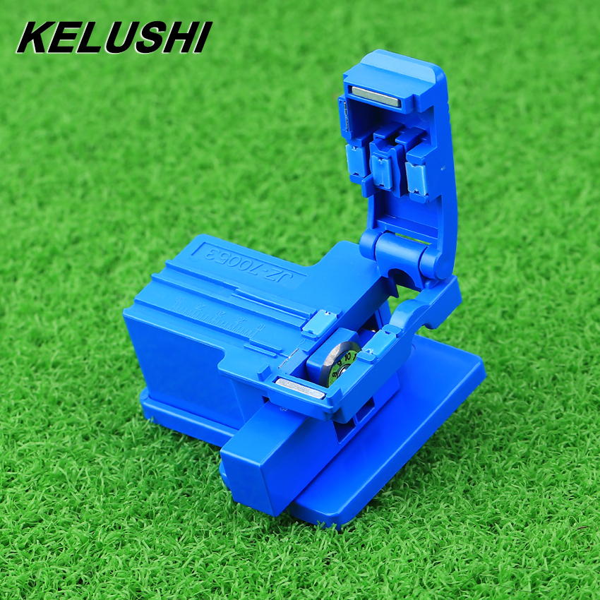 KELUSHI FTTH MINI Optical Fiber Cleaver ABS Small High Precision Fiber Cutting Cable Cold Connection Cutter Tool