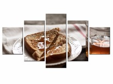 5 Panel Modern Printed Food poster series Painting Picture Canvas Art for Living Room No Frame /still life-46