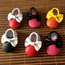 Handmade Soft Bottom Fashion Tassels Baby PU Butterfly Mixed Color Newborn Babies Shoes 4 colors PU