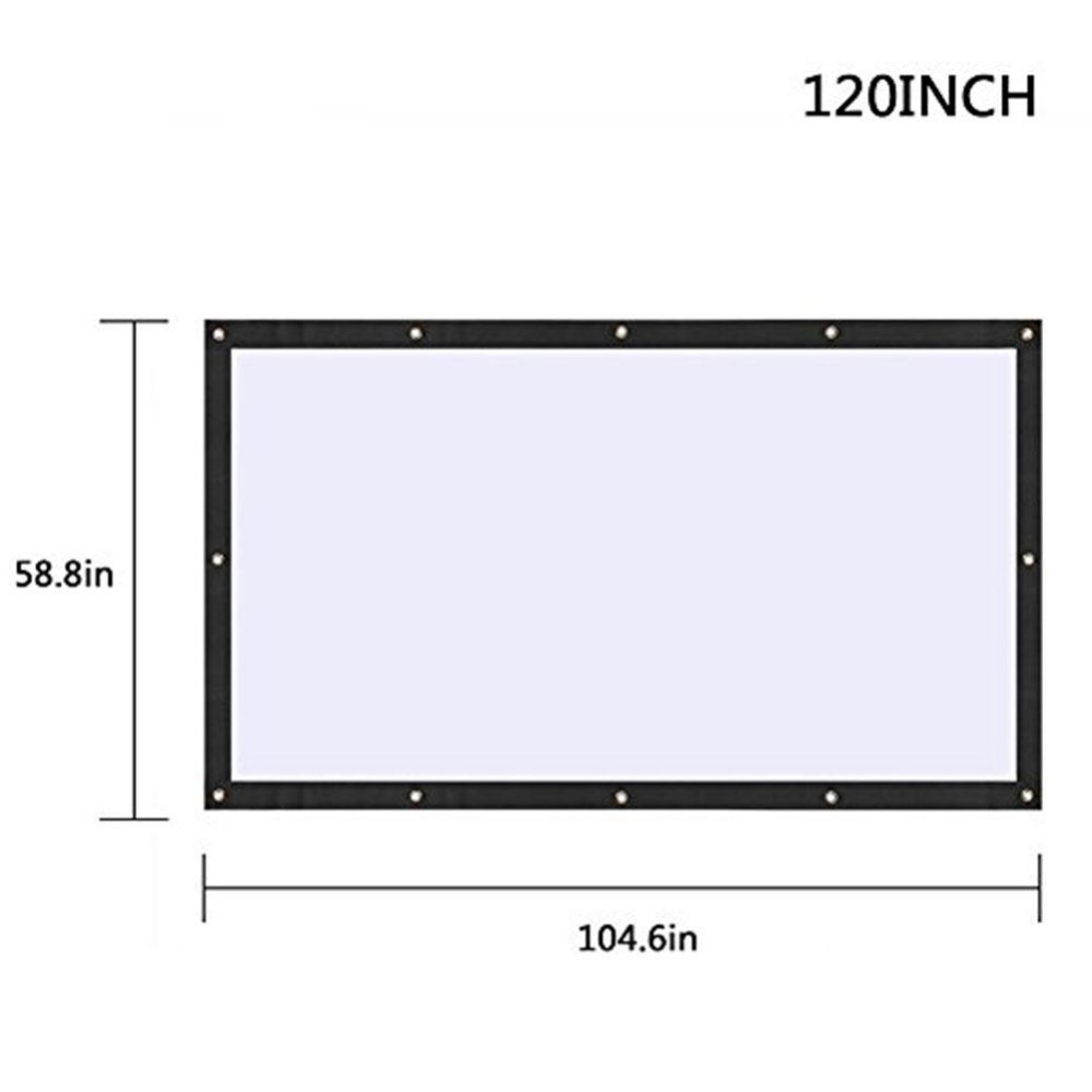 Picture A Christmas Flipchart.Cobee Portable Foldable 16 9 Hd 72inch Projector Screen Fiber Canvas Curtain Outdoor Flipchart Christmas Gift In Flip Chart From Office School