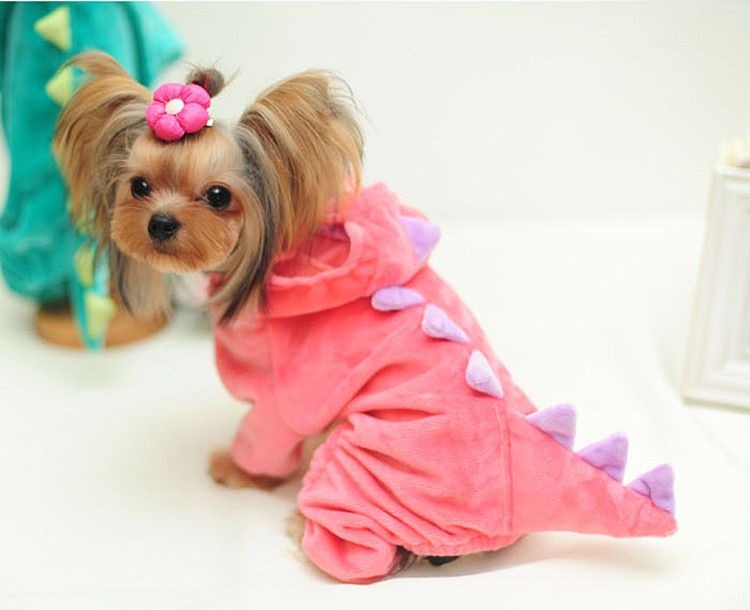مضحك الكلب الملابس الحيوانات التنين جرو معطف الديناصور الملابس يصل تيدي هوديس تشيهواهوا جيرسي الملابس للكلاب الصغيرة 15