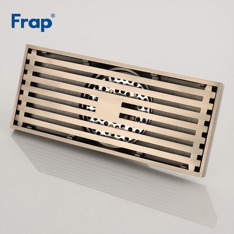 Frap Drain de sol de haute qualité 20*8.2 cm Euro Antique en laiton Drains de sol couverture douche égouttoir accessoires de bain Y38072 - 3