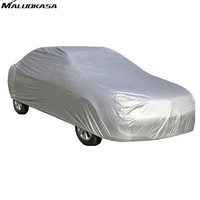 MALUOKASA Full Car Cover Indoor Outdoor Sun UV Snow Dust Resistant Protection Size S M L