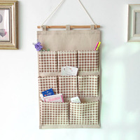 ZAKKA Fabric 8 Pockets Wall Door Closet Hanging Storage Bag Organizer Space Saving Closet Lattice Home