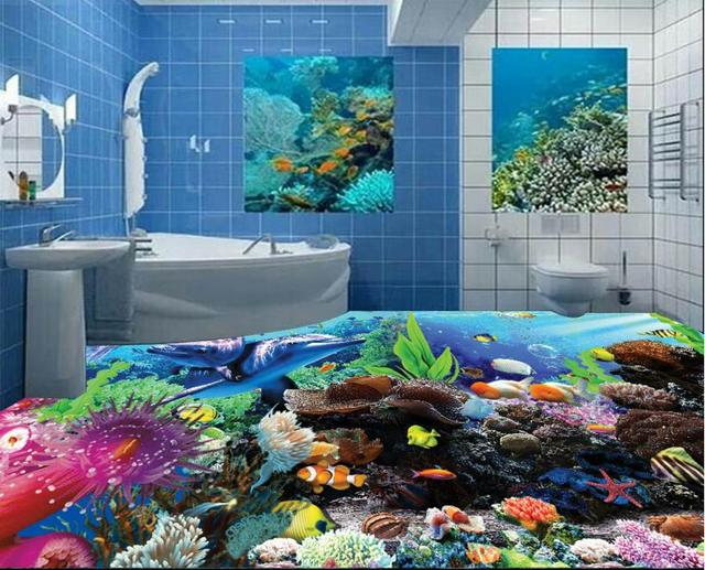 Vloeren vinyl pvc mooie d vloer muurschilderingen onderwater