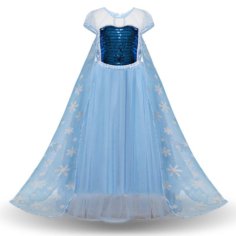 HTB1Q4JcbvjsK1Rjy1Xaq6zispXaS 2019 New Elsa Dress Girls Summer Dress Princess Anna Cosplay Costume Dresses For Girl Princess Vestidos Menina