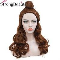 StrongBeauty Synthetic Medium Auburn Wavy Wigs Cosplay Princess Wig