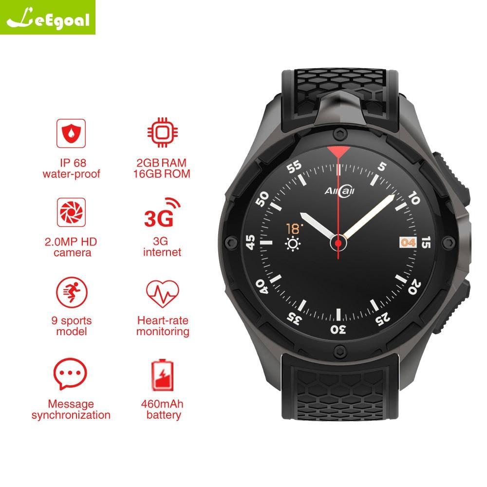 AllCall W2 Android 7,0 MTK 6580 четырехъядерный Смарт-часы 1,39 дюймов 3g IP68 водостойкий монитор сердечного ритма вызов сообщение динамик OTV