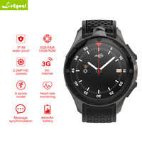 AllCall W2 Android 7,0 MTK 6580 Quad core смарт часы 1,39 дюймов 3g IP68 водонепроницаемый монитор сердечного ритма вызова сообщение Динамик OTV