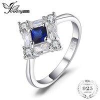JewelryPalace Achthoekige 1ct Blauw Gemaakt Sapphire Ring Echt 925 Sterling Zilveren Fijne Sieraden Nieuwe Gift voor Vrouwen