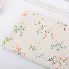 Linen Fabric Rustic Style Canvas Curtain Tablecloth Pillow Sofa Cloth DIY Sewing Cotton Material
