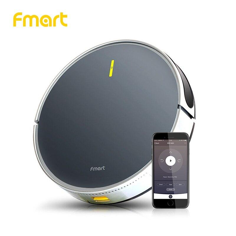 Fmart Robot Aspirateur App WIFI Contrôle B66 Smart Application de Contrôle Prévues Balayage et Humide De Nettoyage Haute aspiration humide sec