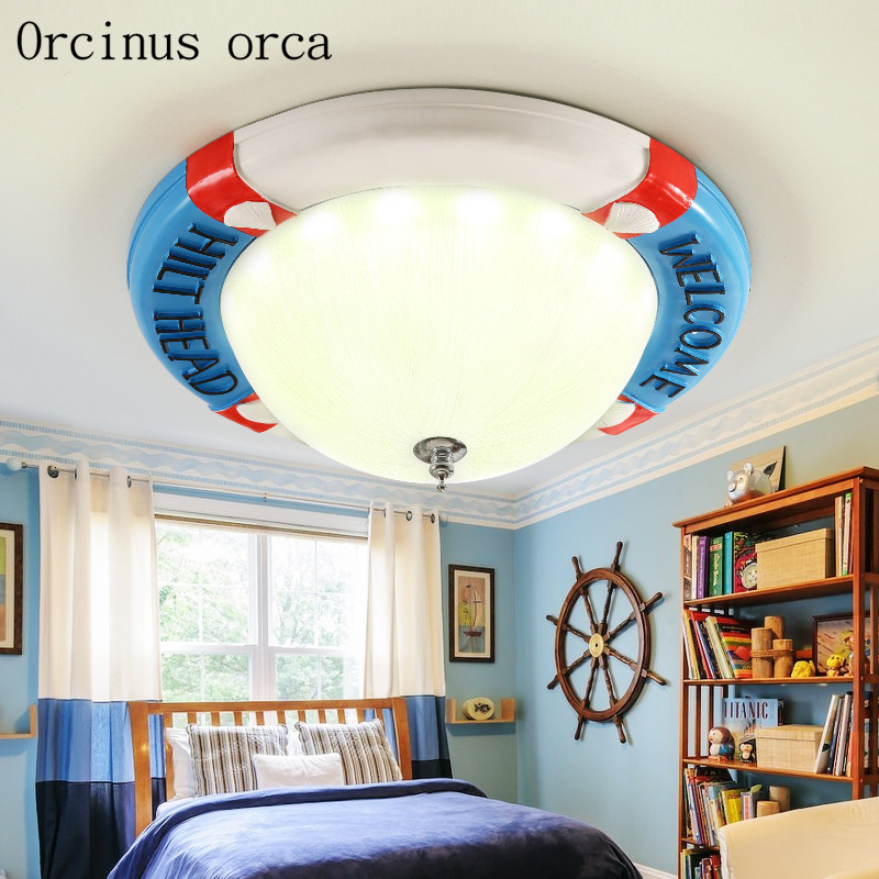 Dependable Mediterranean Round Led Ceiling Lamp Male Girl Bedroom Lamp Originality Warmth Modern Simple Childrens Room Lamp Ceiling Lights & Fans