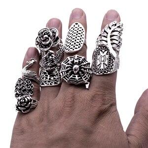 Image 3 - Lote de anillos barrocas de estilo gótico tribal para hombre y mujer, de alta calidad, tallados, vintage, bronce, 25 uds., venta al por mayor