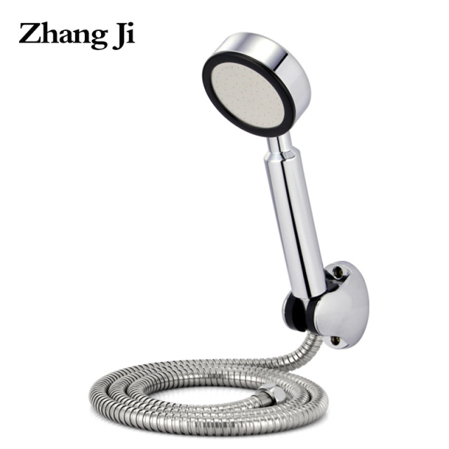 68 Hole Pressurized Water Saving Shower Head Abs Adjustable Shower Holder  Stainless Steel Shower Hose Bathroom