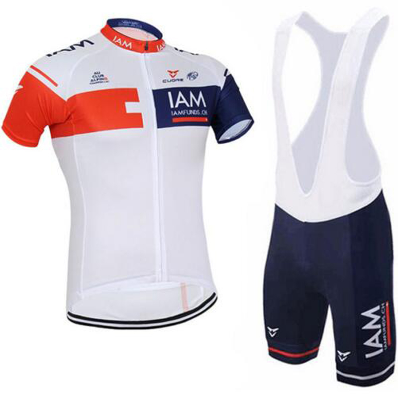 Men Summer Kits Breathable Ropa Ciclismo Bicycle maillot pro team IAM blue cycling jersey r quick dry bike clothing MTB 3D GEL