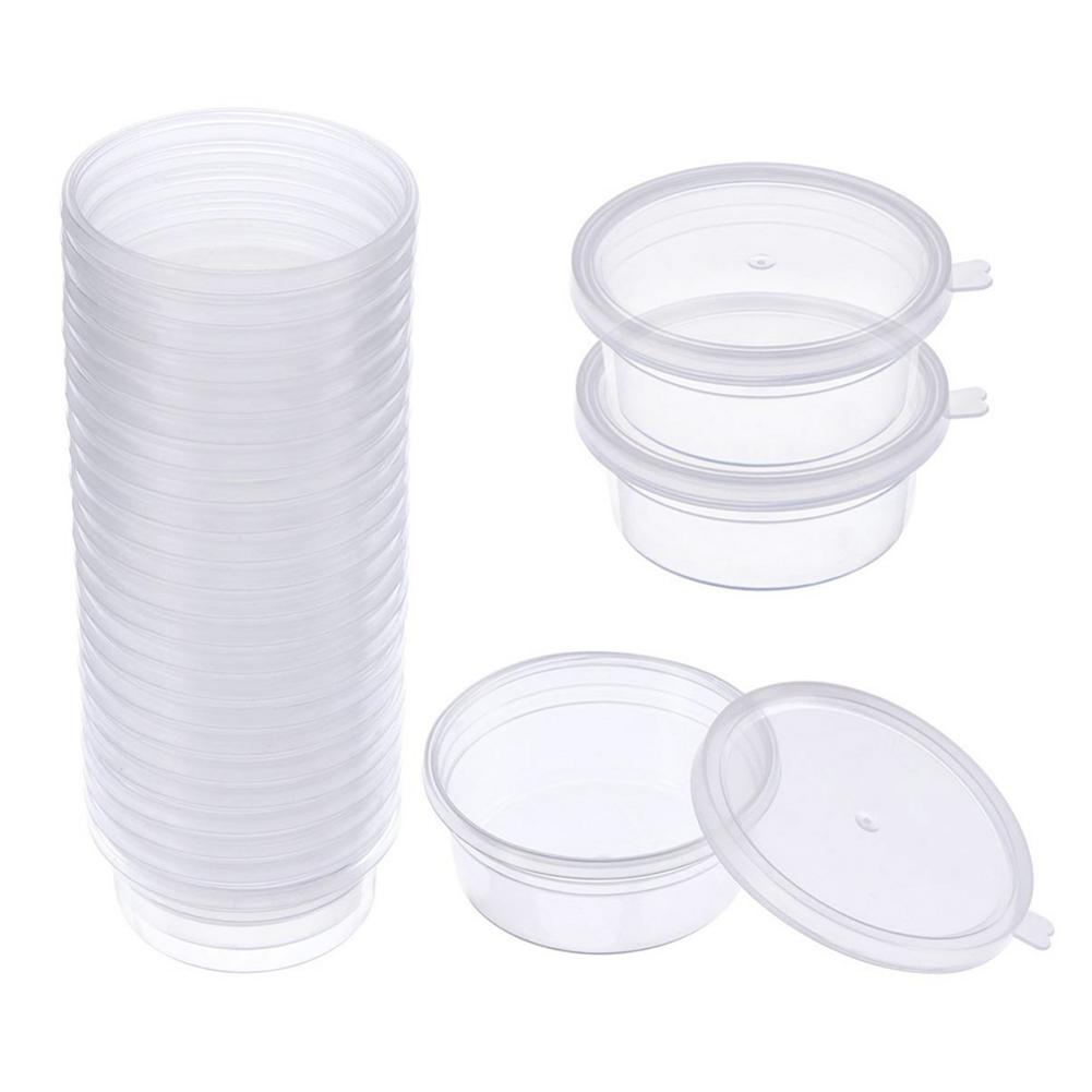 24pcs/Set Lids-Containers Packaging Utensils Storage-Box Disposable Plastic With Kitchen