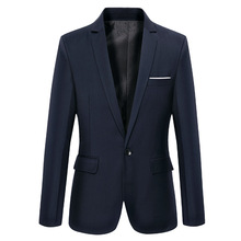 new solid  Mens Blazer Jacket  single button Office Casual Men Blazer full sleeve Blazer Masculino
