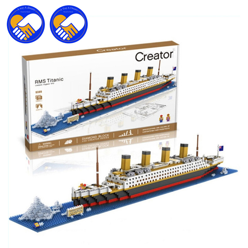 (A Toy A Dream) LOZ The Titanic DIY Assemble Building Blocks Model Classical Toys Gift for Children