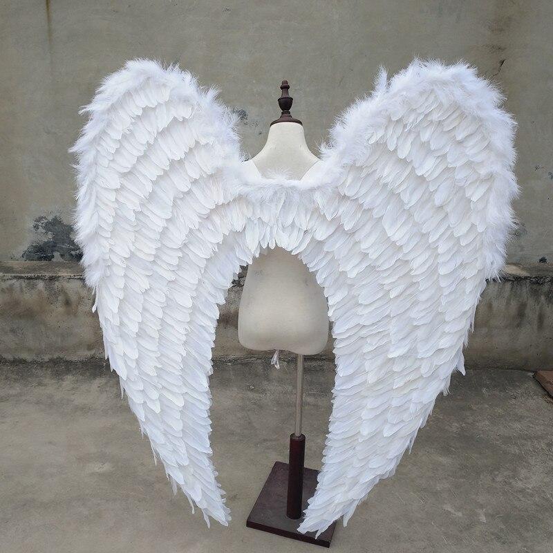 EMS livraison gratuite modèles T scène performance ailes d'ange cadeau de noël photographie de mariage blanc ailes de fées série de plumes