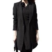 Autumn Long Women Blazers Jackets Office Lady Style Single Button Blazer Women Jacket Casual Long Sleeved