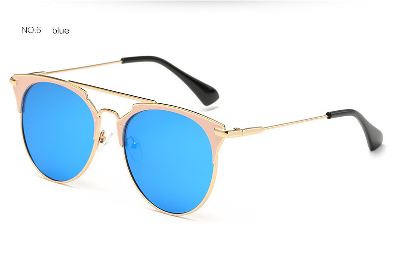 HTB1Q4L9oiAKL1JjSZFoq6ygCFXaa - Luxury Vintage Round Sunglasses Women Brand Designer 2018 Cat Eye Sunglasses Sun Glasses For Women Female Ladies Sunglass Mirror