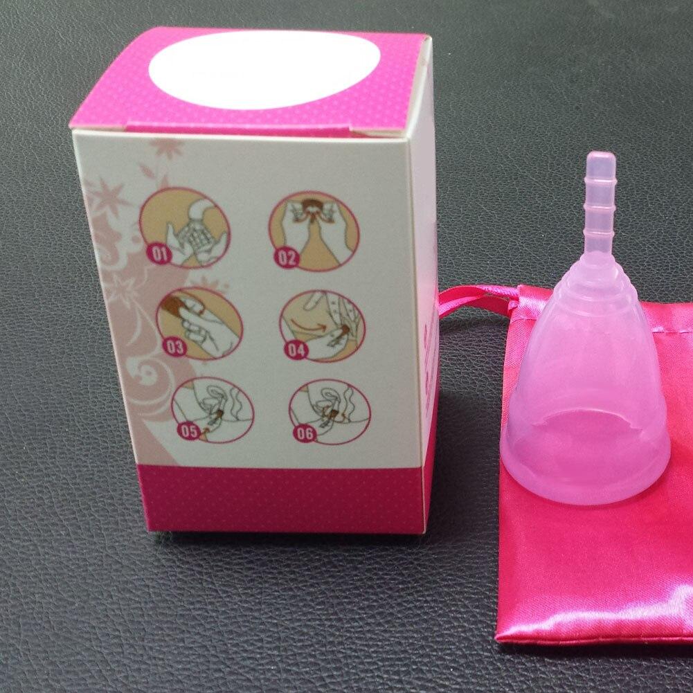 Feminine Hygiene Products Menstrual Cup Top Grade Silicone Copa Menstrual Copa Lady Women Use Menstruation Cup 22