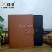 A5 Notebook Planner Binder 2020 Notepad  Leather Cover DIY divider Clear Pen bag soft ruler color sticker