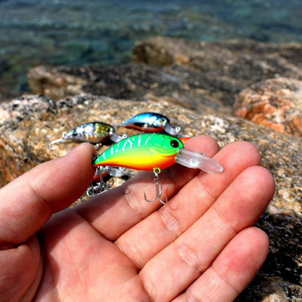 wobblers Super Quality 8 Colors 50mm Hard Bait Minnow Crank Popper Stik Fishing lures Bass Fresh Salt water 14# VMC hooks