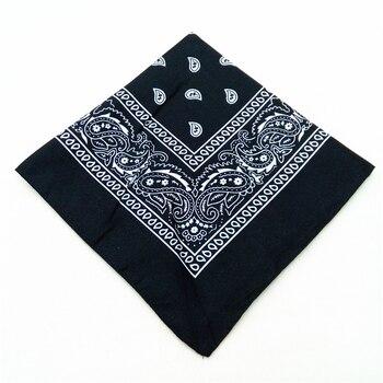 12pcs Polyester Cotton Cashew Flower Hip-hop Bandanas For Women Pocket Square Head Neck Scarf Wristband Handkerchief Men