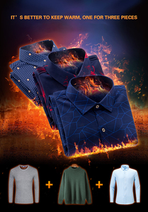 Image 4 - AOLIWENM 2020 moda erkek gömleği bluz erkek kış kalın sıcak baskı kafes 26 renk artı kadife kalınlaşma yeni sıcak gömlek