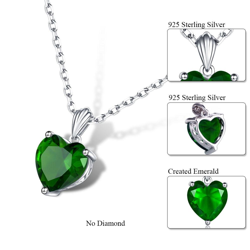 Dvojno-R 925 Sterling Silver Emerald Ogrlica Sapphire Privjesak Ruby - Fine nakit - Foto 5